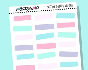 COTTON CANDY WASHI, Washi, Bright Washi, Washi Stickers, Faux Washi, Washi Tape, Washi Strips, Pattern Stickers, Planner Stickers