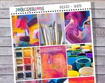 ARTSY - 925, Art Stickers, Creative Stickers, Full Box Stickers, Paint Stickers, Painting Stickers, Decorative Stickers, Deco Stickers, Art