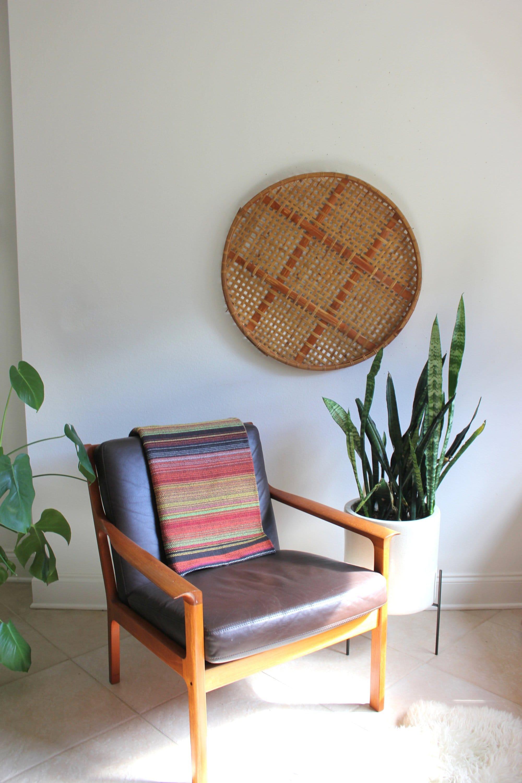 Oversized Wall Basket Woven Rattan And Bamboo Boho Decor