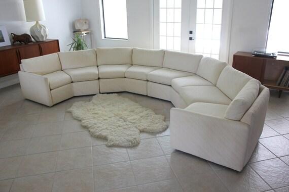 SALE! Bernhardt 'Flair' Octagonal Sectional Sofa in Cream