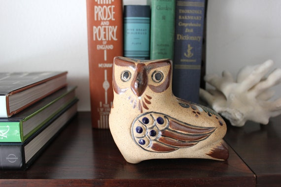 Handpainted Mexican Tonala Owl