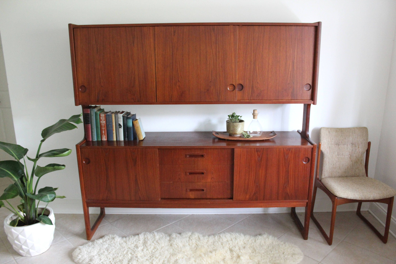 Danish Credenza Hutch : Sold* do not purchase danish modern teak hutch credenza sideboard