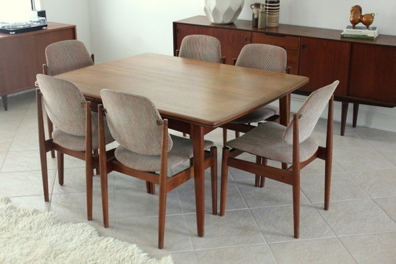 Mid Century Danish Teak Dining Table Designed by Svend Madsen