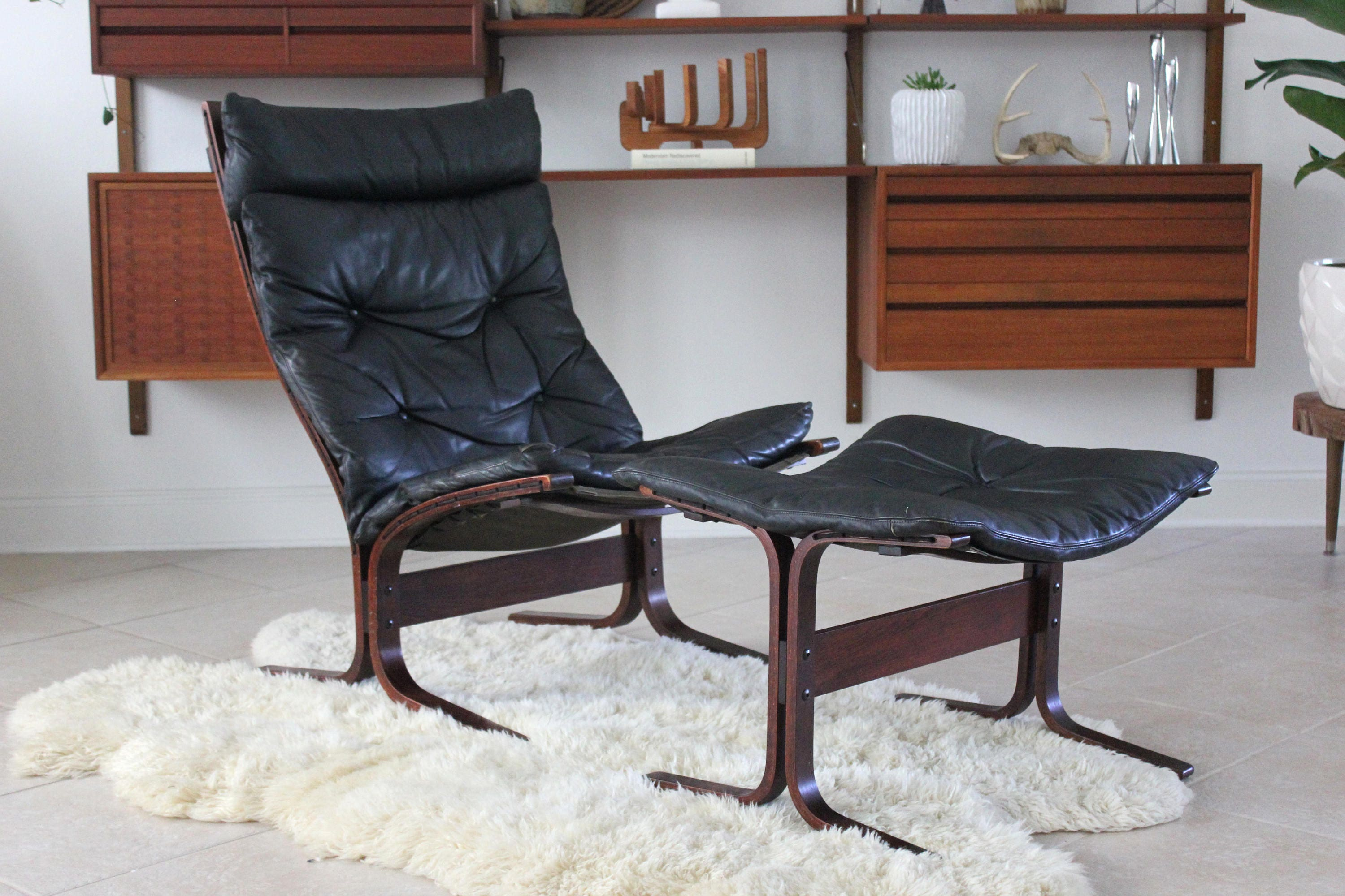 Groovy Mid Century Modern Westnofa Black Leather And Rosewood Gmtry Best Dining Table And Chair Ideas Images Gmtryco