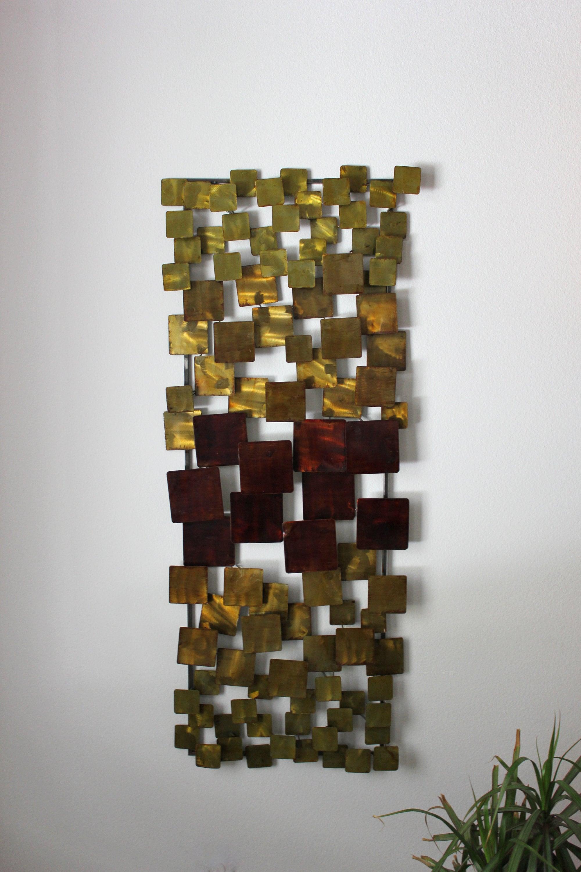 Modernist Mixed Metal Wall Sculpture Mid Century Modern Design