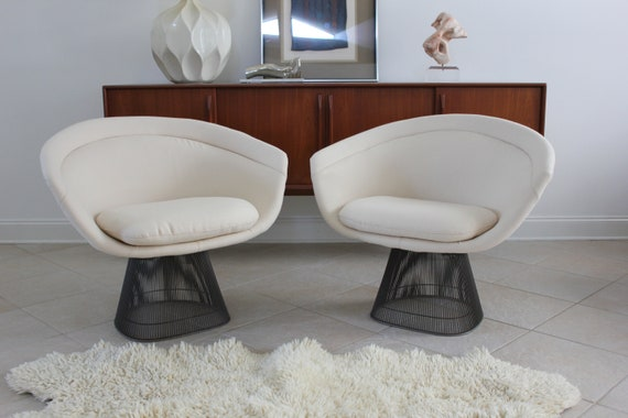 ON HOLD Do Not Purchase Pair of Platner Lounge Chairs by Warren Planter for Knoll