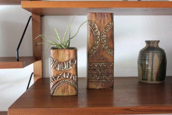 Mid Century Modern Pottery Vase Set