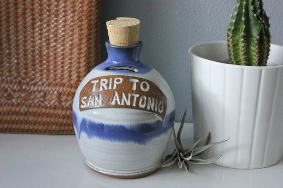 Vintage Sunrise Pottery Texas Money Jar