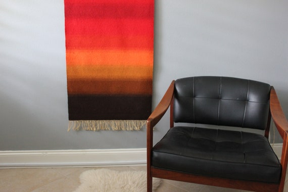 Vintage Ombre Wool Wall Weaving Tapestry