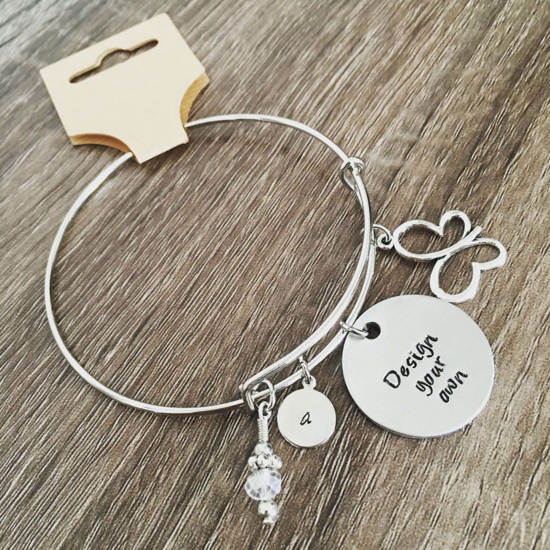 DESIGN YOUR OWN Custom Bangle Charm Bracelet Stack Jewelry