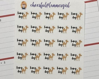 Hump Day Script with Camel Planner Stickers