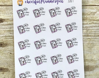 Video Chat with Icon Planner Stickers