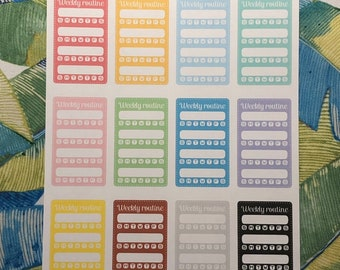 Weekly Routine Side Bar Planner Stickers