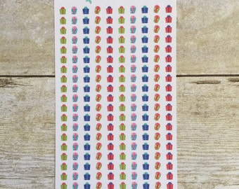 Presents for Birthdays Christmas Planner Mini Stickers M13