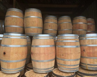 Wine Barrel - 55 Gallon, Great For Tables, Garden Features, Home Brewing  Largest stock in UK! *Please see dimensions in description*