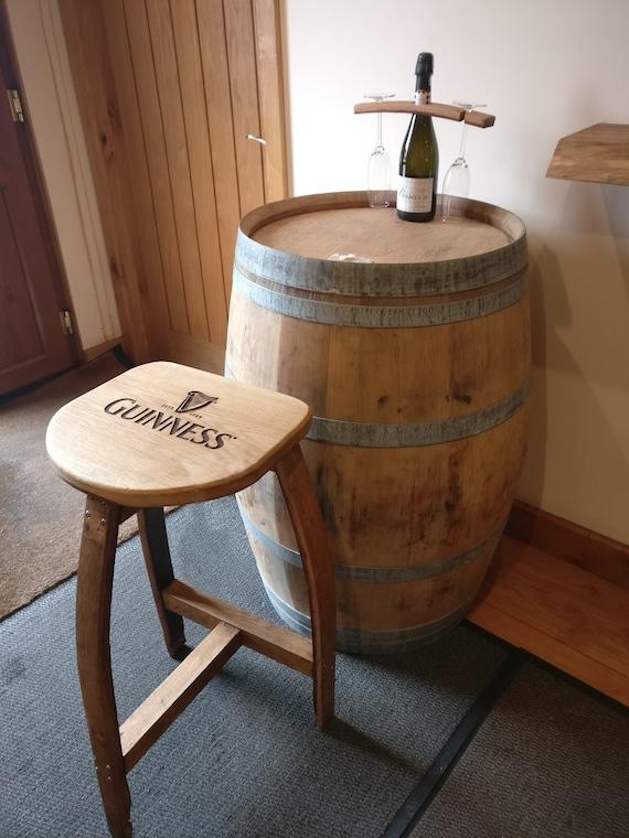 Handmade Wine Barrel Oak Bar Stool Made From Barrel Staves Etsy