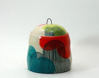 Medium Ceramic Cloud Kitchen Storage Jar