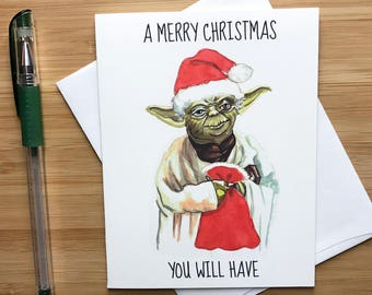 A 'Merry Christmas You Will Have' Card, Happy Holidays Card, Pop Culture Christmas, Stocking Stuffers, Movie Nerd Christmas Card