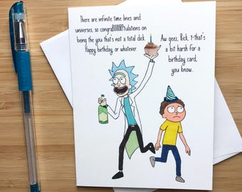 Funny Mad Scientist Birthday Card Cute Happy Boyfriend Husband Animation Pop Culture Greeting