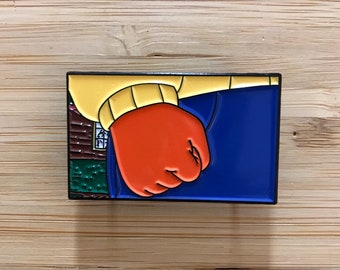 Cool Arthur Soft Enamel Pin, Soft Enamel Lapel Pin, Funny Pins, Pin Badge, backpack pins, jacket pins, FREE BIRTHDAY CARD with every order!