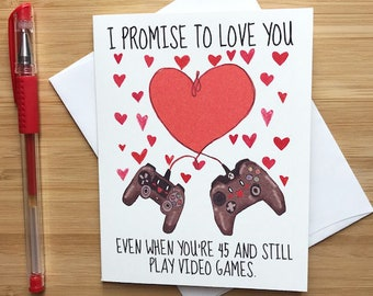Cute Love Card For Video Game Lovers Happy Anniversary Greeting Cards Romantic Valentines Day Boyfriend