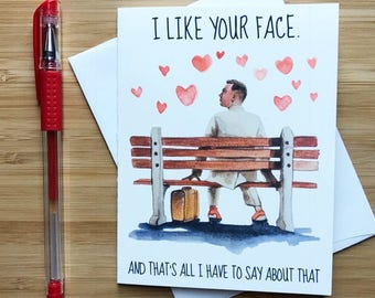 Cute Tom Hanks Valentines Day Card, Just Because Card, Miss You Card, Cute Love Card, Anniversary Card, Love Greeting Cards, Romantic Card