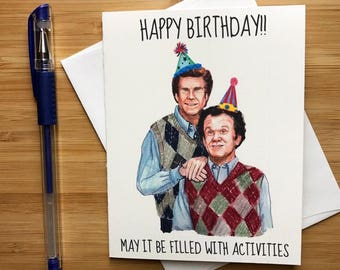 Step Bros Birthday Card, Funny Birthday Card, Comedy Gift for Him, Bday Greeting, Best Friends Birthday Card, BFF Birthday Greeting