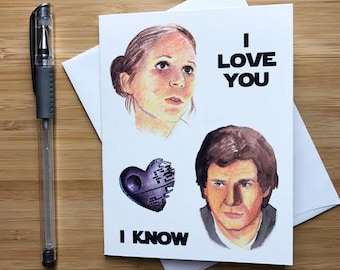 Cute 'I Love You I Know' Card, Valentine Card for Him, Nerdy Romantic Card for Her, Boyfriend Love Card, Fun Happy Anniversary Card