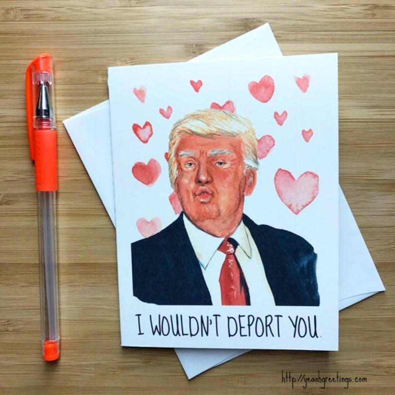 The Donald Happy Anniversary Funny Donald Trump Funny Love Card Donald Trump Love Card Romantic Card Funny Love Card I Love You