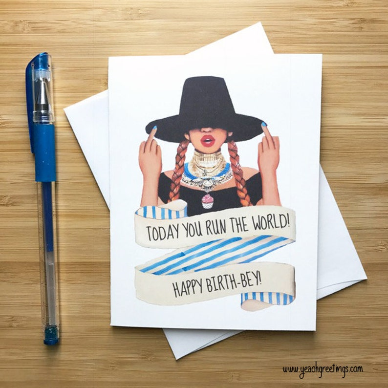 Cute Fingers Up Birthday Card Hop Gift Happy