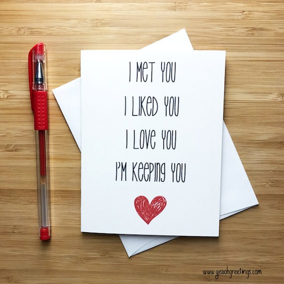 Cute love card anniversary card love greeting cards etsy image 0 m4hsunfo
