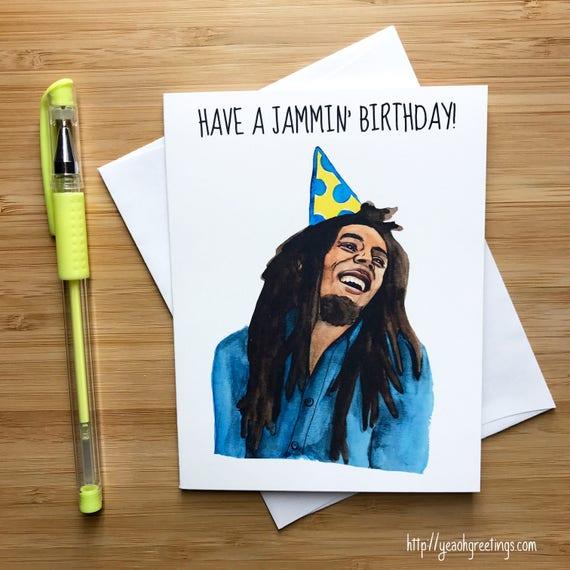 Cute Jammin Birthday Card Pop Culture Music Card Etsy