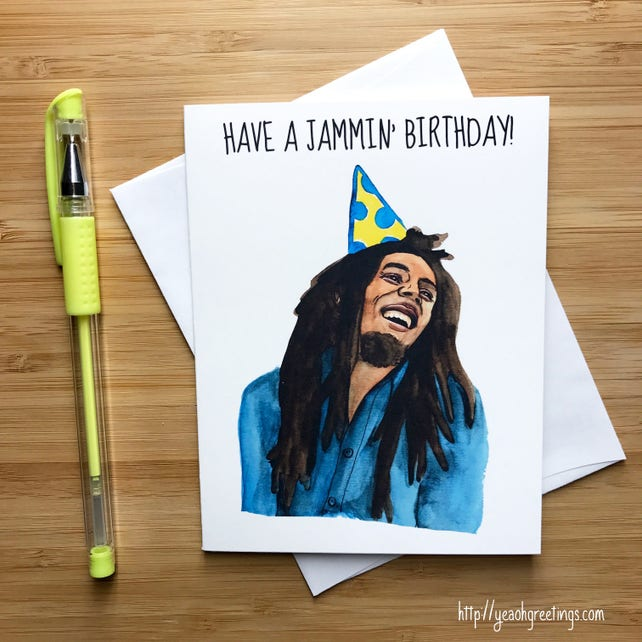 Cute Jammin Birthday Card Pop Culture Music Card Etsy
