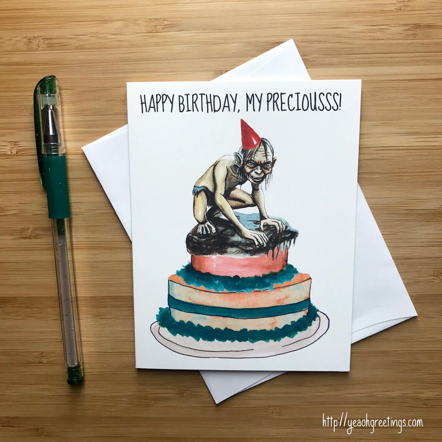 Cute Fantasy Birthday Card Movie Nerds