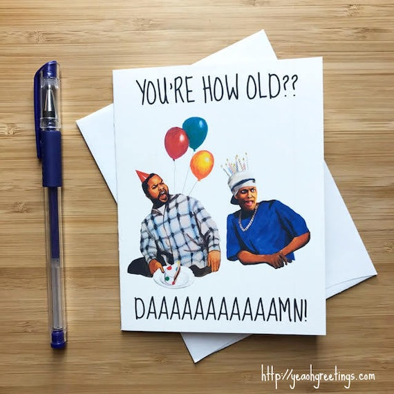 Friday Birthday Card 90s Pop Culture Hip Hop Birthday Card Etsy