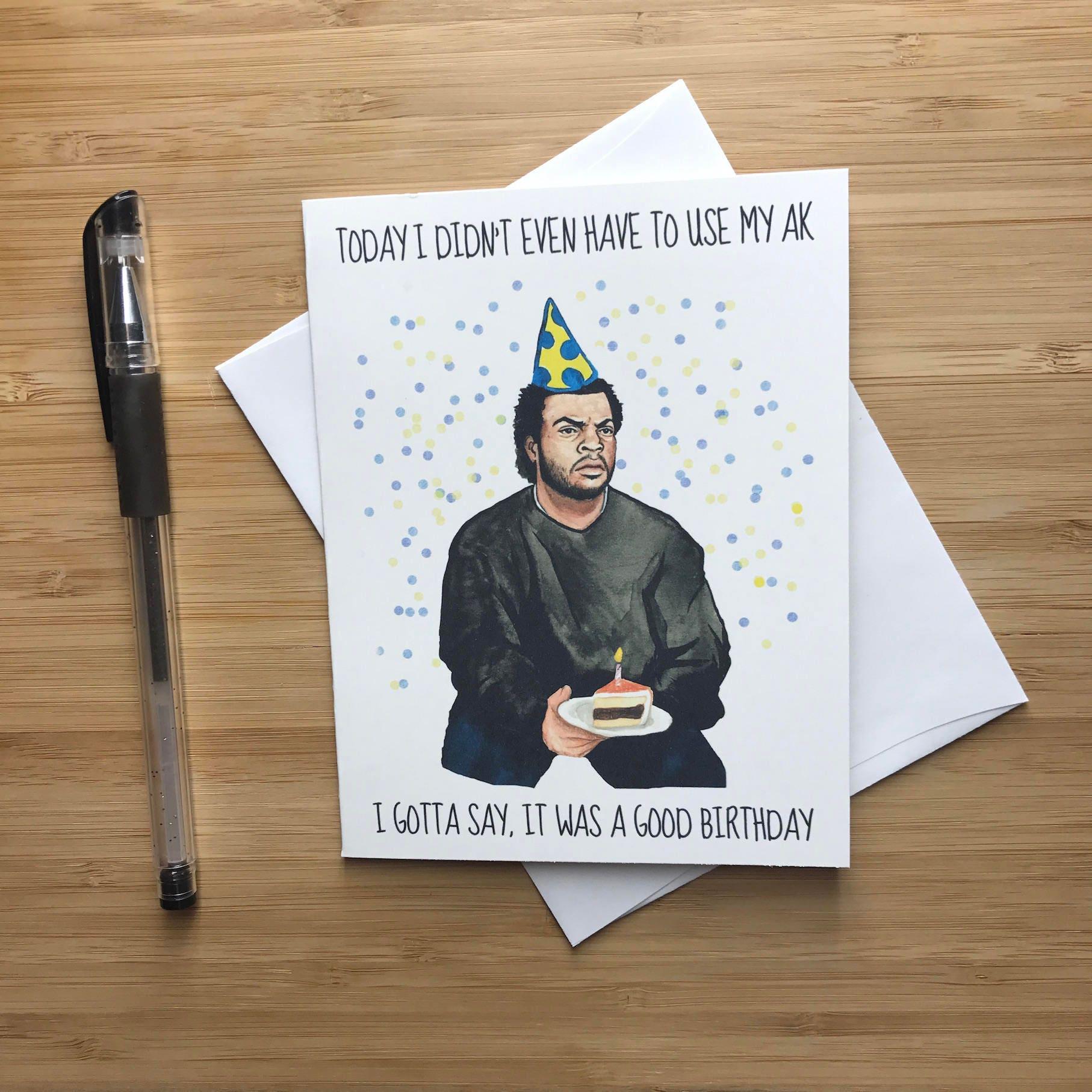 90s Rap Birthday Card Funny Hip Hop Birthday Card Rap