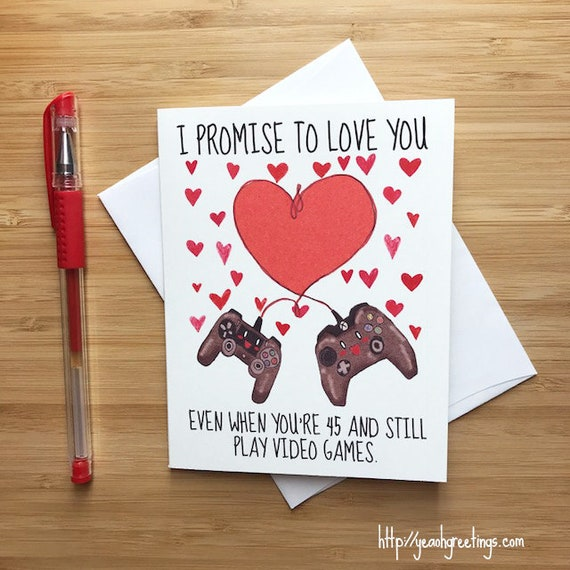 Cute love card for video game lovers happy anniversary card etsy image 0 m4hsunfo