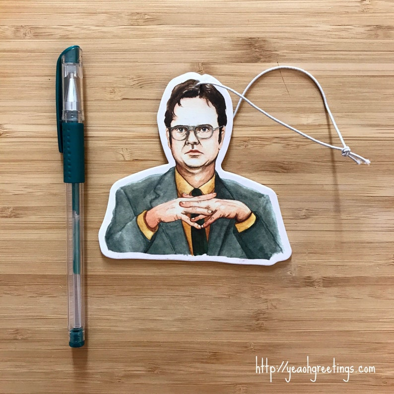 Beau Cute Dwight Car Air Freshener With FREE Birthday Card, Office Air  Freshener, Office Gift, Coworker Birthday Gift Idea, Scented Gifts