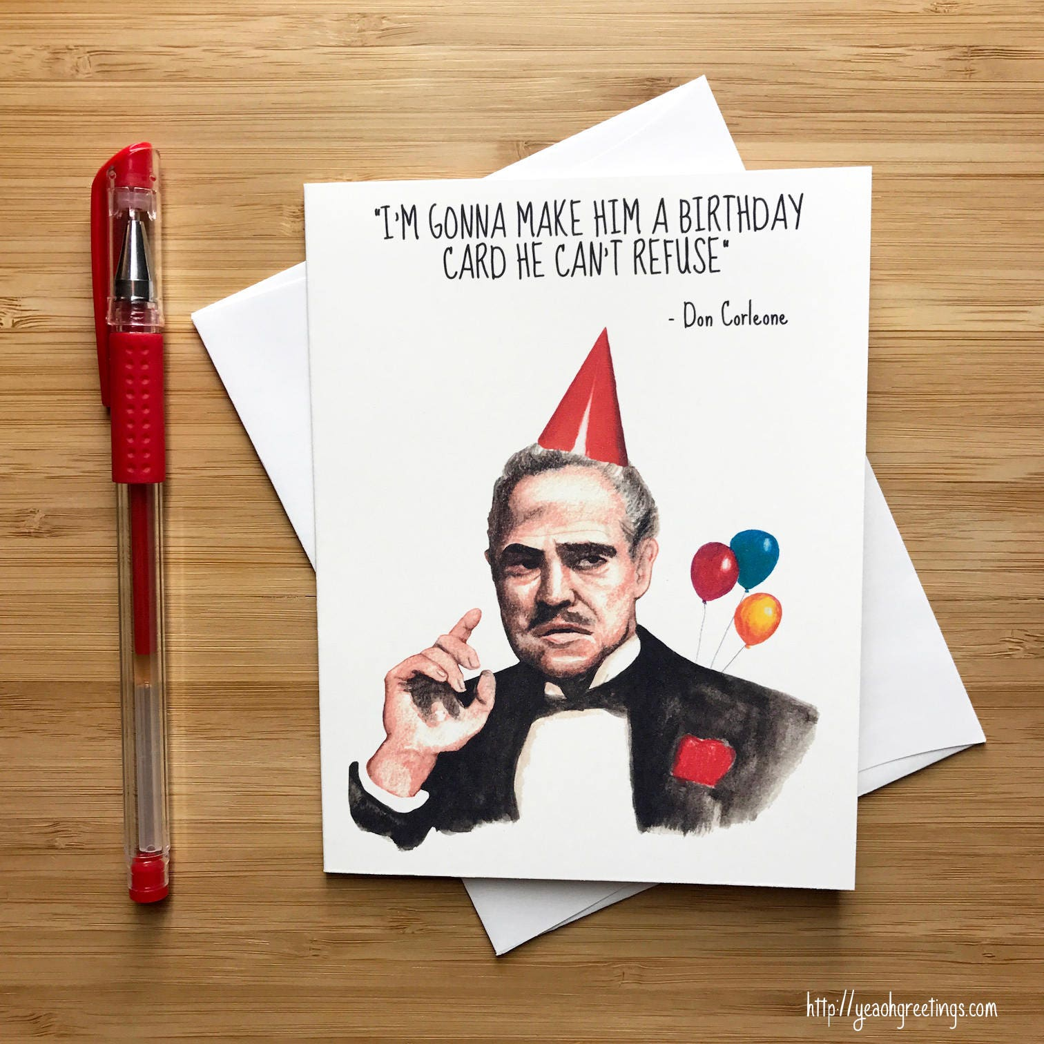 Funny Don Movie Quote Birthday Card Nerds