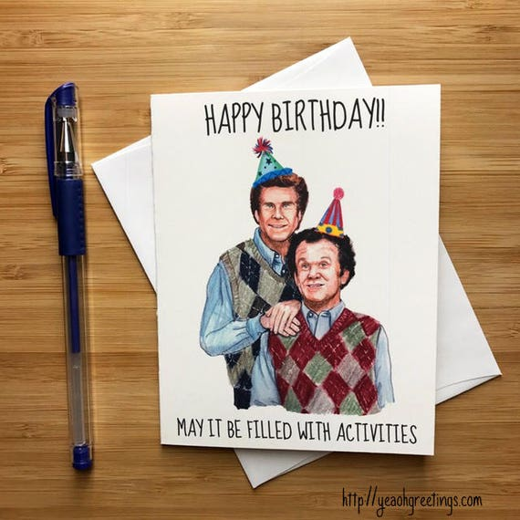 Step Bros Birthday Card Funny Comedy Gift For