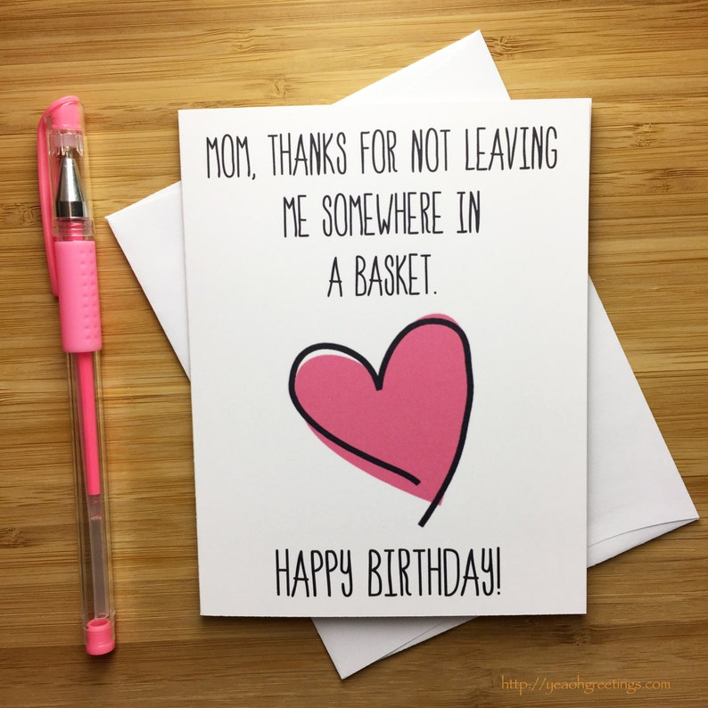 Happy Birthday Mom Card For Mother Funny Moms Greeting