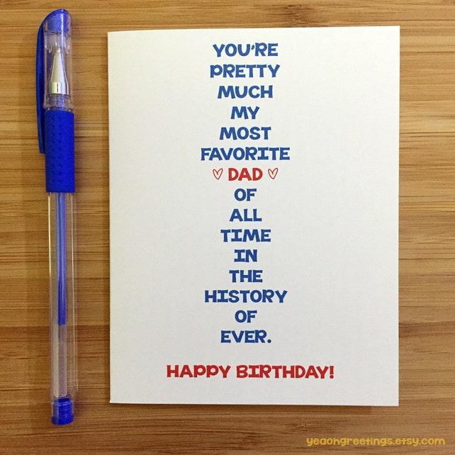 Happy Birthday Dad Card For Dad Funny Dad Card Cute Card Etsy