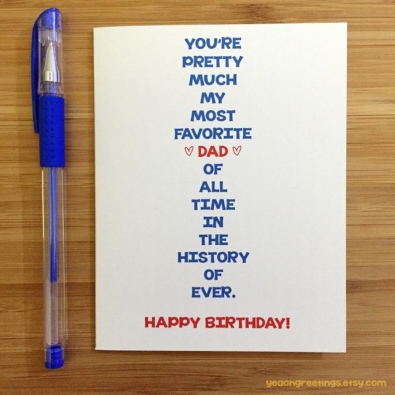 Happy Birthday Dad Card For Funny Cute