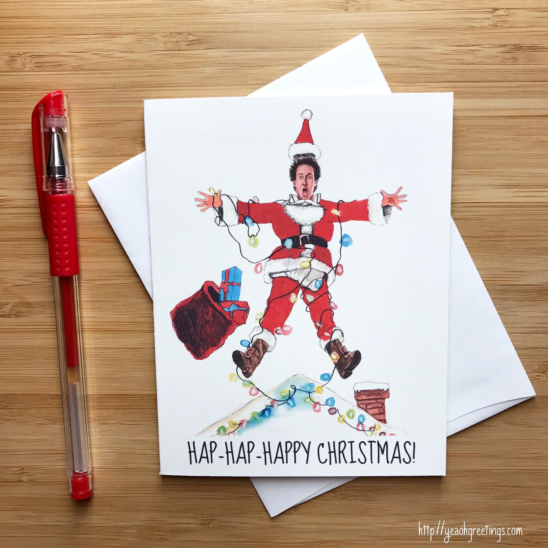 Christmas Vacation Santa Quotes: Hap Hap Happy Christmas Card Christmas Cards Funny Santa