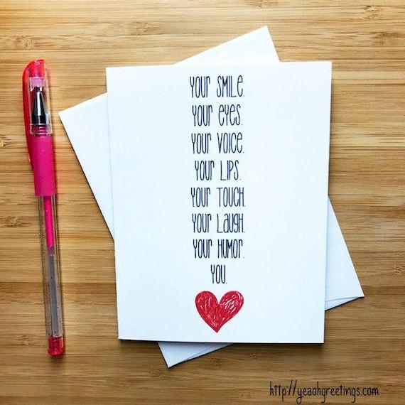 Sweet Romantic Love Card For Boyfriend Girlfriend Cute -8936