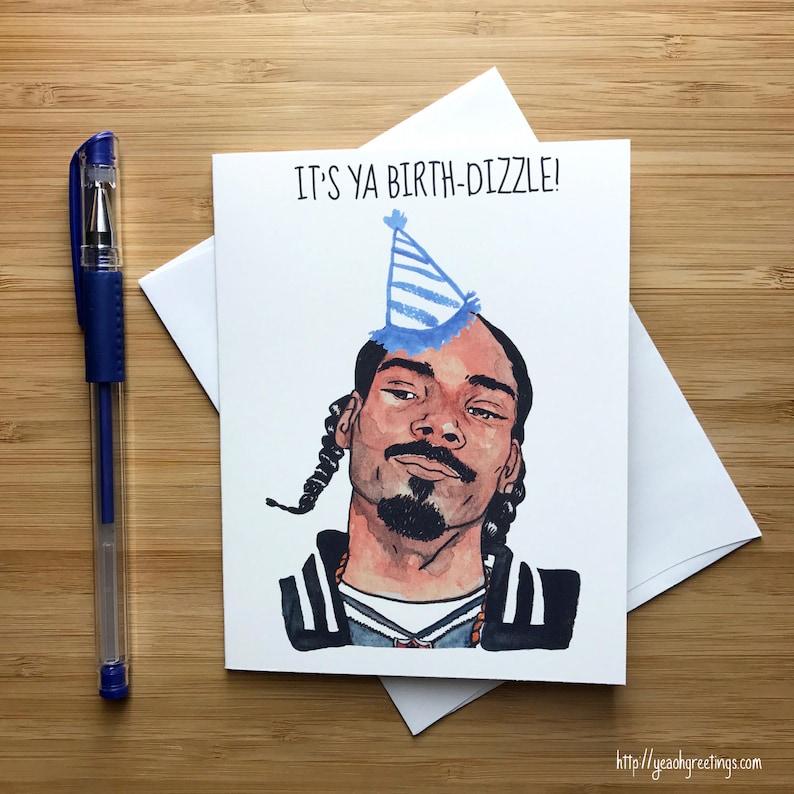 Birth Dizzle Birthday Card Rap Music Funny