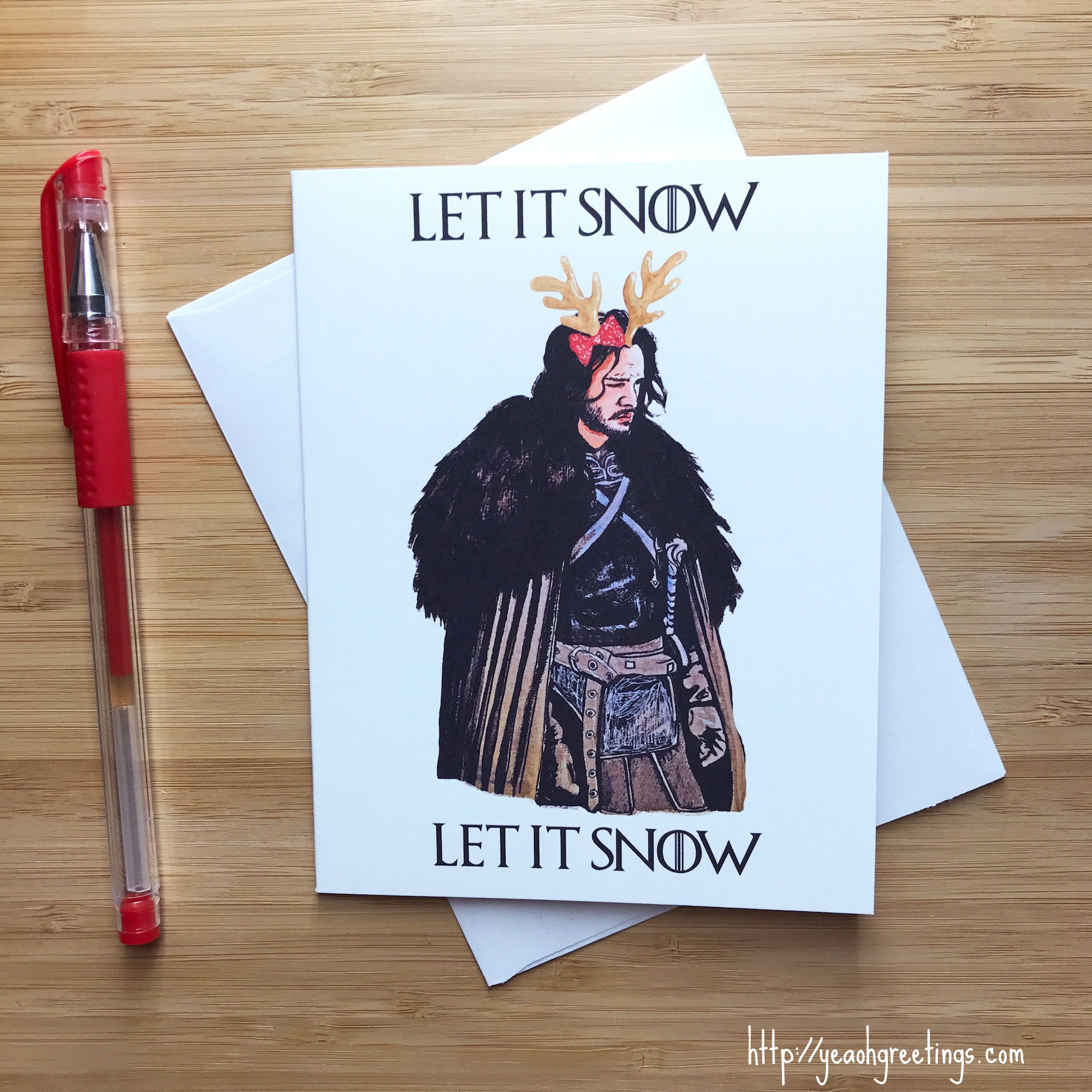 Cute Let It Snow Christmas Card Funny Christmas Etsy