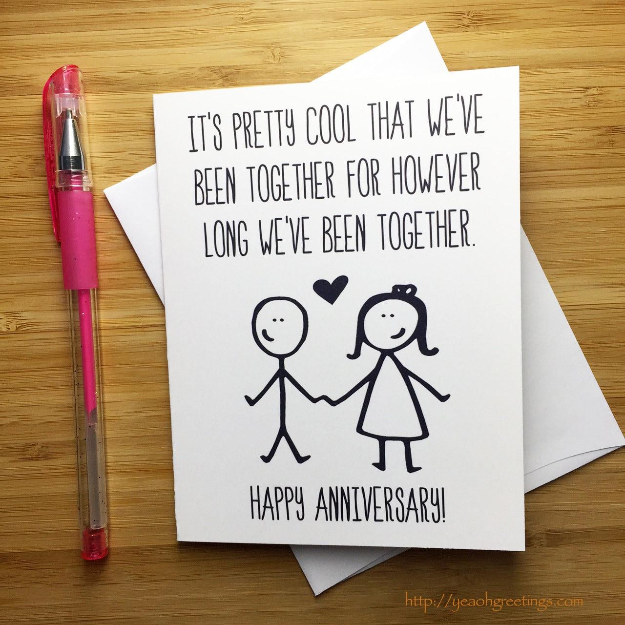 Funny Anniversary Card Happy Anniversary Anniversary Card Etsy