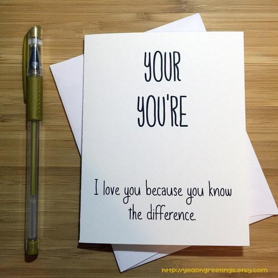 I Love You Cute Love Card Anniversary Card Love Greeting Etsy