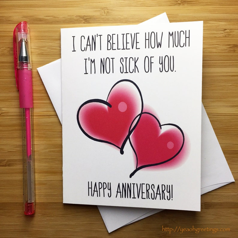 Anniversario Divertente Carta Buon Anniversario Amore Etsy